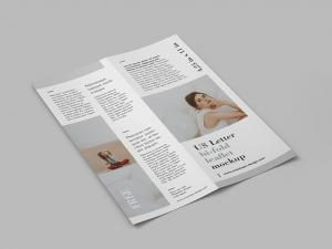 US Letter Bi-Fold Leaflet Free Mockup