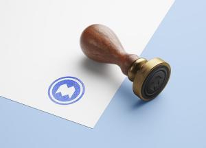Wooden Stamp Free Mockup