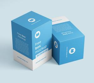 Free Realistic Box Packaging Mockup