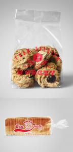 Bread and Cookies Plastic Bag Free Mockups