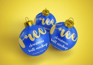 Christmas Ball 3d Free Mockups