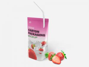 Drink Carton Packaging Free Mockup