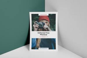 Editorial Magazine Free Mockup
