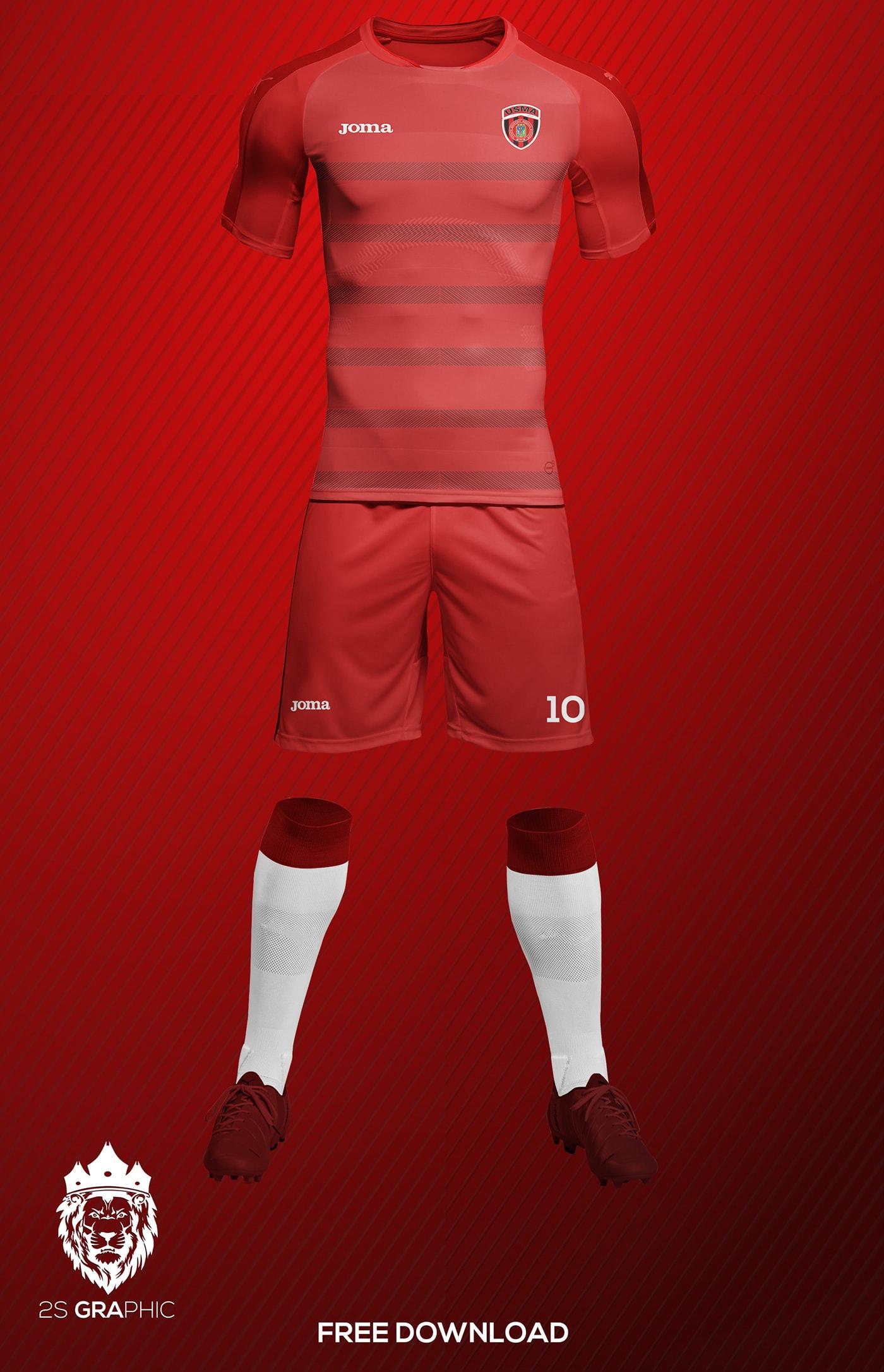 Football (Soccer) Kit Free Mockup  4963b514d