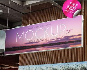 Free Indoor Banner Mockup