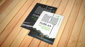 Flyer A4 – 2 PSD Free Mockups