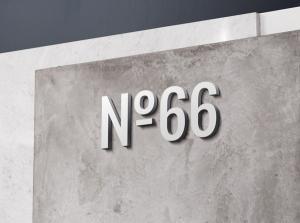 3D Wall Logo – Free Mockup