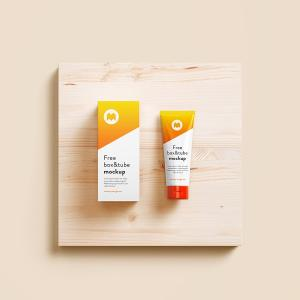Cosmetic Tube & box – Free mockup