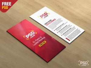 DL Flyer and Leaflet Free Mockups