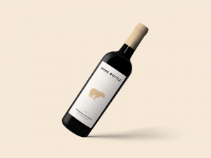 Floating Wine Bottle – Free Mockup