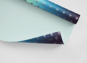 Gift Wrapping Paper Free Mockup