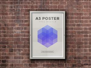 Outdoor Framed Poster – Free Mockup