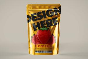 Plastic Pouch Free Mockup