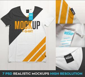 T-Shirt with Hangtag Free Mockup