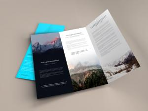 Trifold Brochure – Free Mockup