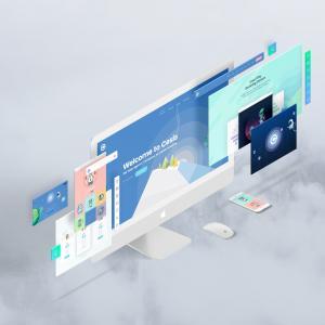 Screens Perspective Free (iMac, iPad & iPhone X) Mockup