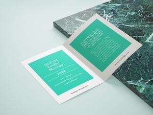 Bi-Fold Leaflet Free Mockup