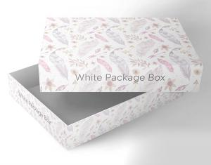 Free Packaging Box Mockup in White Color