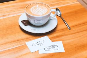 Business Cards & Coffee Cup – Free Mockup