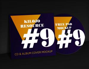 CD & Album Cover Free Mockup