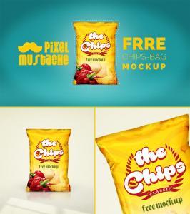 Realistic Chips Bag Free Mockup