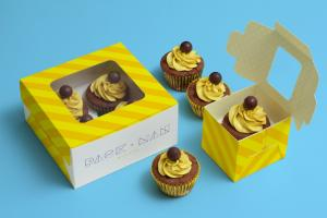 Cupcake Boxes – Free Mockup