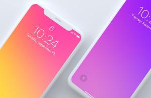 Top Light View iPhone x Free Mockup