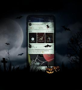 iPhone X Halloween Theme Free Mockup