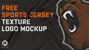 Free Jersey Texture Logo Mockup