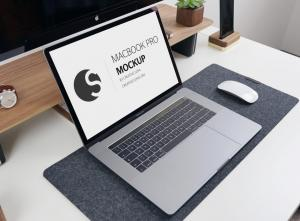Photorealistic Macbook Pro 2018 – Free Mockup
