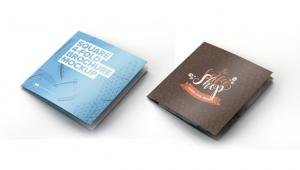 Square 4 Fold Brochure – Free Mockup