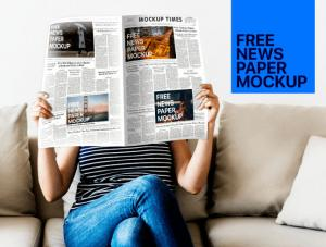 News Paper Free Mockup