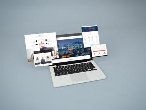 Notebook Website Free Mockup