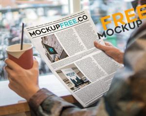Newspaper Free Mockup