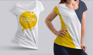 Girl Wearing T-Shirt – Realistic Free Mockup