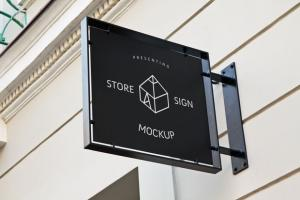 Store Sign Free Mockup