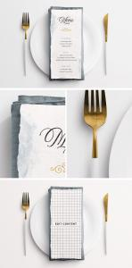 Wedding Menu on Table – Free Mockup
