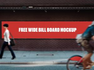 Wide Bill Board Free Mockup