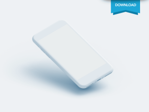 Free Iphone Clay Mockup