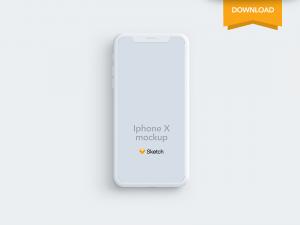 Free Iphone X Clay Mockup