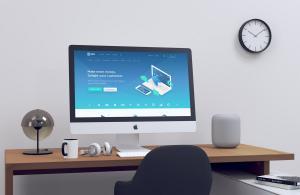 Realistic iMac Free Mockup