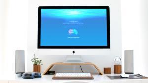 Free iMac with Scene PSD Mockup