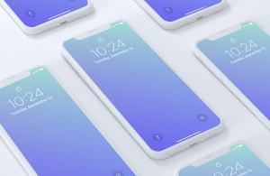 Professional iPhone X Screens Free Mockups