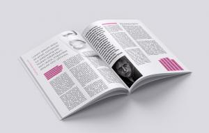 Realistic Magazine with 7 Angles Free Mockup