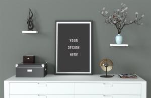 Modern Poster Frame Free Mockup
