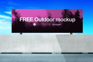 Free Realistic Billboard Mockup