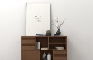 Clean Poster Frame Free Mockup