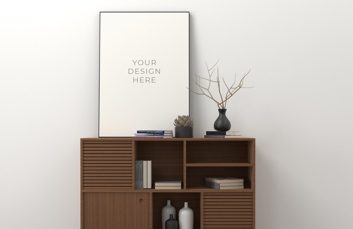 Clean Poster Frame Free Mockup Freemockup
