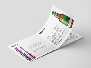 Square Brochure with hard Edge Free Mockup