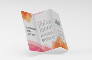Tri-Fold Brochure Print Free Mockup